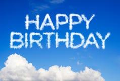 Happy birthday message Stock Image