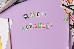Happy birthday message Stock Images