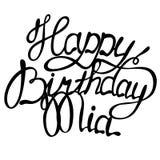 Happy birthday Mia name lettering Royalty Free Stock Photos