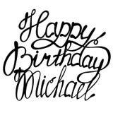 Happy birthday Michael lettering. Vector happy birthday Michael lettering Stock Image