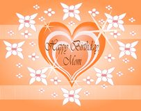Happy birthday mom. Nice and elegant happy birthday greeting card for our mothers Stock Images