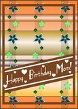 Happy birthday mom. Nice and elegant happy birthday greeting card for our mothers Royalty Free Stock Image