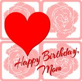 Happy birthday greeting card for mothers Royalty Free Stock Image