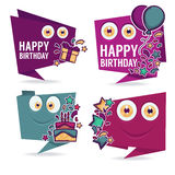happy birthday monsters Royalty Free Stock Photos