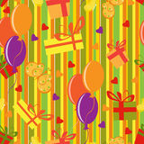 Happy birthday motives pattern Stock Images