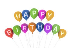 Happy birthday multi coloured balloons Royalty Free Stock Image