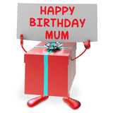 Happy Birthday Mum Means Presents for Mother Royalty Free Stock Photography