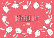 Happy Birthday my bunny greeting card