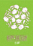 Happy Birthday my bunny postcard