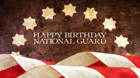 Happy Birthday National Guard. Stars. And Stripes Stock Images