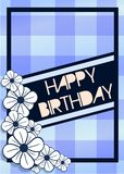 Happy birthday greeting card with flowers Stock Image