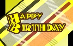 Colorful Happy birthday greeting card Royalty Free Stock Images