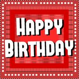 Happy birthday greeting card in red Royalty Free Stock Photos
