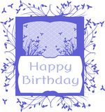 original Happy birthday greeting card isolated Royalty Free Stock Photos