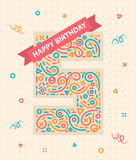 Happy birthday number 5 Greeting card for five year Royalty Free Stock Photography