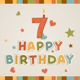 Happy birthday. number Seven Royalty Free Stock Photos