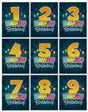 Happy birthday numbers vector illustration