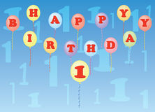 Happy birthday one year Stock Photography