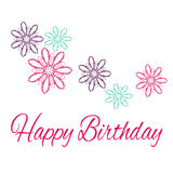 Happy Birthday. Original Drawn  Illustration. Happy Birthday. Original Drawn Illustration Stock Photography