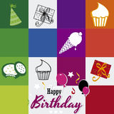 Happy birthday. Over colorful background  illustration Royalty Free Stock Photos