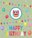 Happy Birthday Owl Royalty Free Stock Image