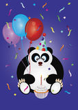Happy Birthday Panda Bear Illustration Stock Images