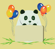 Happy Birthday Panda Bear Royalty Free Stock Images