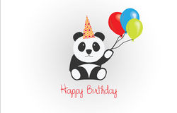 Happy Birthday Panda Vector Royalty Free Stock Photos