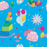 Happy birthday  paper seamless pattern in vector Stock Photography