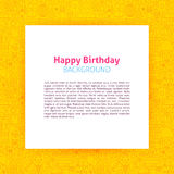 Happy Birthday Paper Template. Vector Illustration of Paper over Party Outline Design Stock Photos