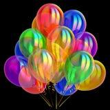 Happy birthday party balloon decoration balloons festive colorful. Happy birthday party balloon decoration balloons bunch festive colorful. Anniversary celebrate Stock Images