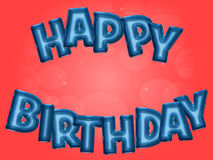 Happy Birthday party balloons. Happy Birthday word written with balloon letters on red party background Royalty Free Stock Image