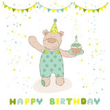 Happy Birthday and Party Card royalty free illustration