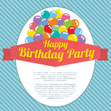Happy Birthday Party Card Stock Image