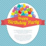 Happy Birthday Party Card Stock Image