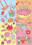 Happy birthday party card Royalty Free Stock Photography
