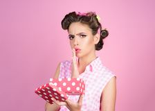 Happy birthday. Party celebration. pinup girl with fashion hair. retro woman on berthday party. pin up woman with trendy. Makeup. pretty girl in vintage style stock photos
