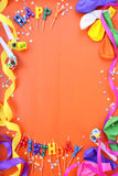 Happy Birthday Party Decorations Background Royalty Free Stock Photos