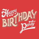 Happy Birthday Party hand-lettering vector illustration