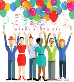 Happy birthday party Stock Photography
