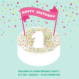 Happy Birthday and Party Invitation Card Royalty Free Stock Photography
