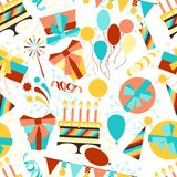 Happy Birthday party seamless pattern Stock Photos