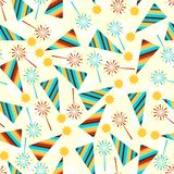 Happy Birthday party seamless pattern Royalty Free Stock Images