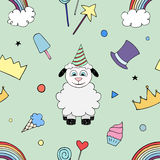 Happy Birthday Party seamless pattern Stock Photography