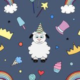 Happy Birthday Party seamless pattern Royalty Free Stock Image