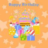 Happy birthday party seamless pattern Royalty Free Stock Photo
