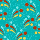 Happy Birthday party seamless pattern with. Fireworks Royalty Free Stock Photo