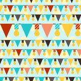 Happy Birthday party seamless pattern with Stock Photos