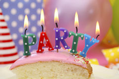 Happy Birthday Party Table Stock Image