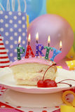 Happy Birthday Party Table Stock Photography